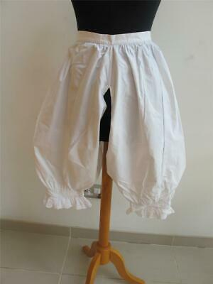 Antique Victorian Bloomers Open Crotch Split Drawers Embroidered Cotton c1890