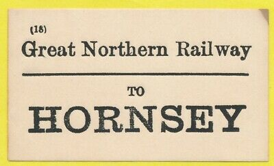 Great Northern Railway luggage label - HORNSEY