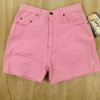 vtg 80's 90's usa made high waist pink denim shorts BEVERLY HILLS co size 7