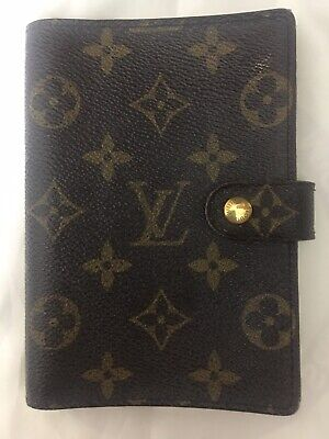 $ 365 Preowned LOUIS VUITTON Monogram Small Ring Agenda Cover R20005 SOLD OUT