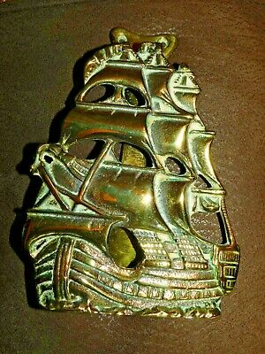 Large Brass Galleon Ship Door Knocker