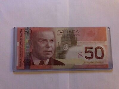 One 2006 Canadian  $50.00 Bills   -  Uncirculated  -  Crisp - two digits
