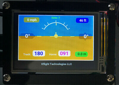 Aircraft AHRS with GPS Groundspeed, Altitude, Heading, Home Vector / Distance