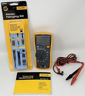 Fluke 117 Digital Multimeter, Leads & TPAK Set - Intergrated Voltage Detection