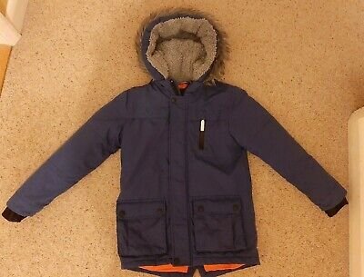 Kids Boys Blue Winter Jacket Padded Hooded Coat Age 9-10 Yrs Height 140 cm used