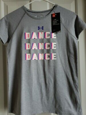 Under Armour Girls' Dance Dance Dance Graphic T-shirt Tee Top Size YLG (L) NWT