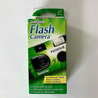 FujiFilm Quicksnap 400 Flash camera 35mm single use disposable exp. 02/2022