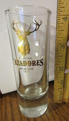 Tall Shot Glass Tequila Cazadores Deer 'Hunter' De Agave Alcohol C My Collection