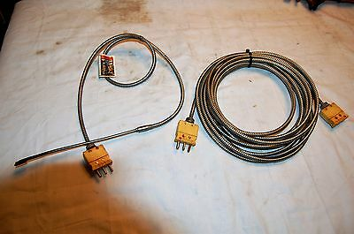 Three Prong Temperature Probe with 25 Ft. Extension Cord
