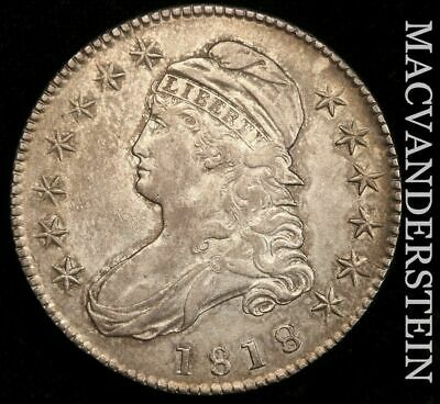 1818 Capped Bust Half Dollar - Almost Uncirculated!!  Semi-Key!!  #H6665