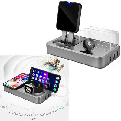 Multi-function USB Mobile Phone Watch Wireless Charger Smart QC3.0 Fast Charge
