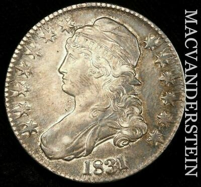 1831 Capped Bust Half Dollar- Scarce !! Almost Uncirculated+ !! #H6916