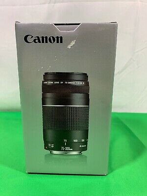 Canon EF 75-300mm F/4-5.6 III Lens (6473A003) Free Shipping