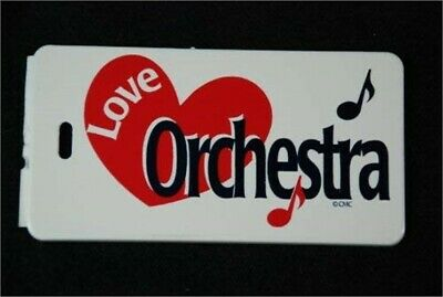 "ID/Luggage tag featuring words ""Love Orchestra"""