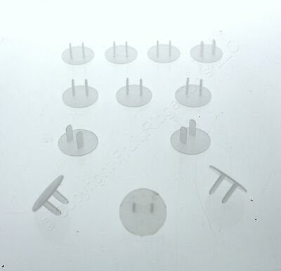 12 Leviton Clear Straight Blade Receptacle Outlet Protection Cover Caps 12777