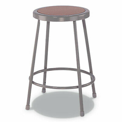 """Alera Industrial Metal Shop Stool, 24"""" Seat Height, Supports Up To 300 Lbs., Bro"""