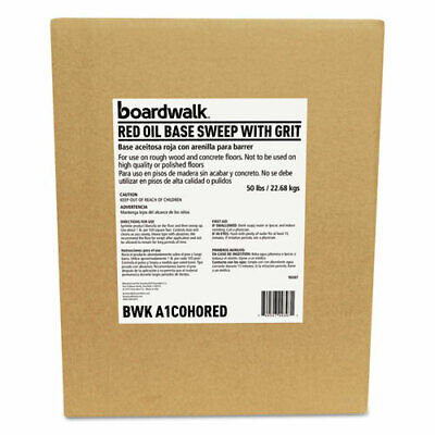 Boardwalk Oil-Based Sweeping Compound, Grit, Red, 50Lbs, Box