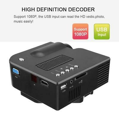 1080P Full HD LED Mini Portable Projector Home Theater Cinema AV USB Lot - Et