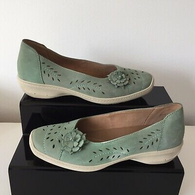 "Hotter ""Mexico""Green Suede Slip On Shoes Women`s Size UK 7 - EU 41"