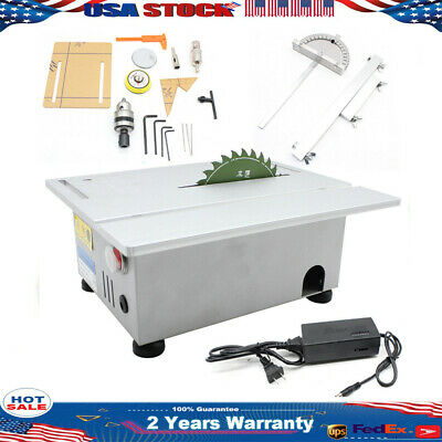 350W Mini Table Bench Saws Woodworking Bench Lathe Electric Polisher Grinder US