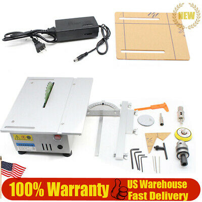 T5 Miniature Precision Small Table Saw Blade DIY Woodworking Cutting Machine US