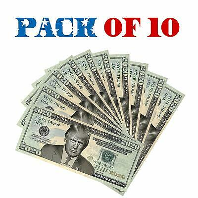 Twenty-Twenty Dollars | Donald Trump 2020 Dollar Bill [Pack Of 10] – Re-Electi