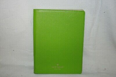 Kate Spade Leather Notebook Cover Bright Lime Green Calendar Organizer