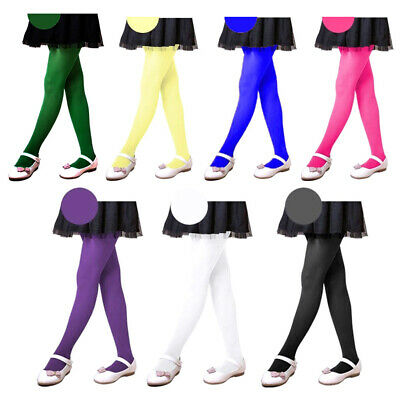 Kids Girls Candy Color Tights Stockings Ballet Dance Pantyhose Footed Socks New