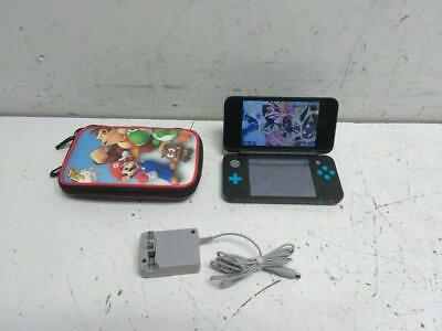 Nintendo 2DS XL Handheld System - Black & Turquoise w/ Case & Charger
