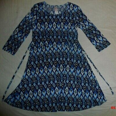 Girl's  Justice Blue & White Dress~Size  10