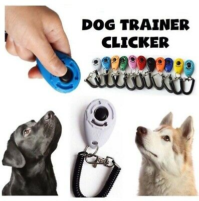 Dog Clicker Pet Trainer Teaching Training Tool For Dogs Puppy Clicking Key Ring