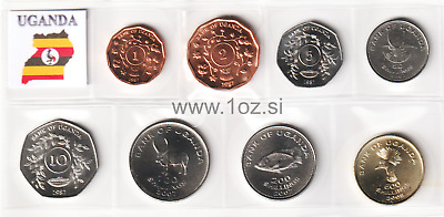 Uganda 2015 Set of 4 Coins UNC 50 100 200 500 Shillings Fish Animals