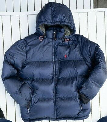 Polo Ralph Lauren Puffer Navy Jackson Down Coat Brand New Without Tags In Medium