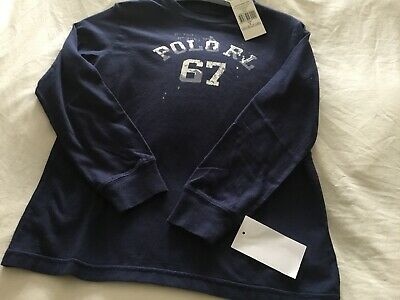 Polo Ralph Lauren Long Sleeve Boys Graphic Teeshirt Age 7 Years Bnwts Rrp£29