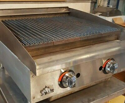 """24"""" STAR-Max 6124RCBF Gas Char-broiler NEW GRATES 2 Burners Radiant Grill Used"""