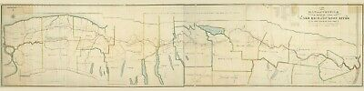 1821 Map of The Canal from Lake Erie to Hudson River New York