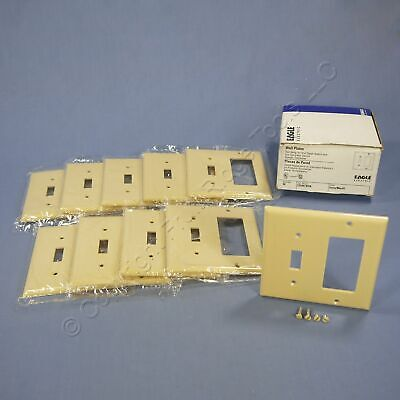 10 Eagle Ivory Decorator GFCI Switch Cover Receptacle Thermoset Wallplates 2153V