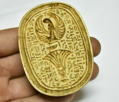 Rare ancient egyptian antique large stone scarab c 1550-1069 bc