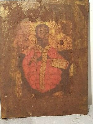 Rare Antique wooden stela Jesus Egyptian Christian jesus sinai 30 AD