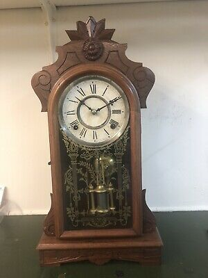 Antique Mantle Clock, American Mantle Clock, Bracket Clock, Spares Or Repair