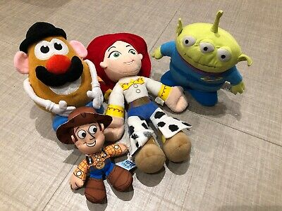 Toy Story Disney Pixar Big Woody, Mr Potato Head, Jessie & Alien Soft Plush Toys