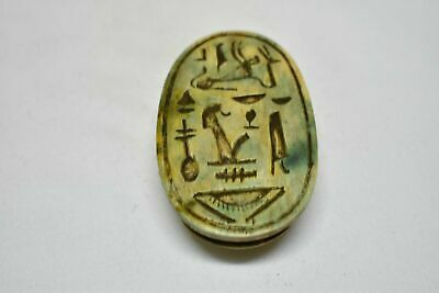 Rare ancient egyptian antique large stone scarab a 1550-1069 bc