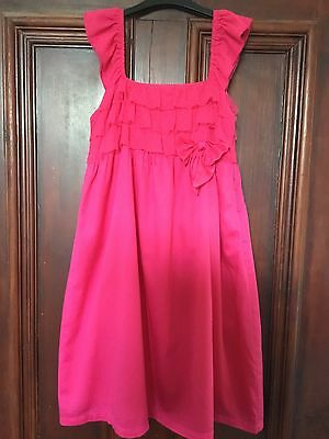 Girls VERTBAUDET Pink Net Ruffle Party Dress Age 12 Years Worn Once