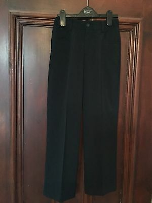 Boys Navy Blue M & S Dress Trousers Age 10 Years Hardly Worn