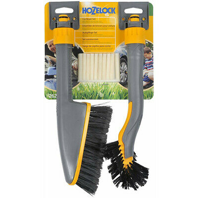 Hozelock Car Wash Brush Alloy Wheel Twin Pack Short + Shampoo Soap Sticks Care