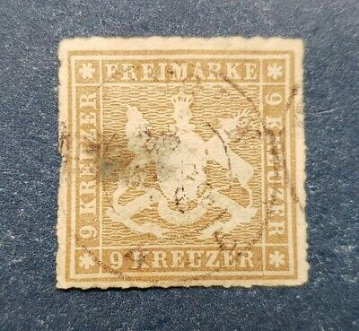 German States - Wurttemberg Stamp, Scott 45 Used and Hinged