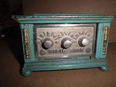 Great old original cast iron & steel sides 3 Dial Radio Bank  by Kenton 1927 -32