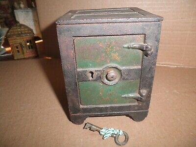 Great old original cast iron Key Lock Safe still bank by J. & E. Stevens c.1872