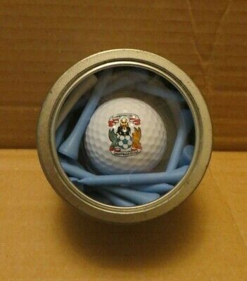 COVENTRY CITY- GOLF BALL & TEES IN A TIN- Official Football Merchandise
