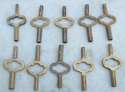 10 Old Carriage Clock Keys Double Ended Brass Carriage Clock Key French Clock